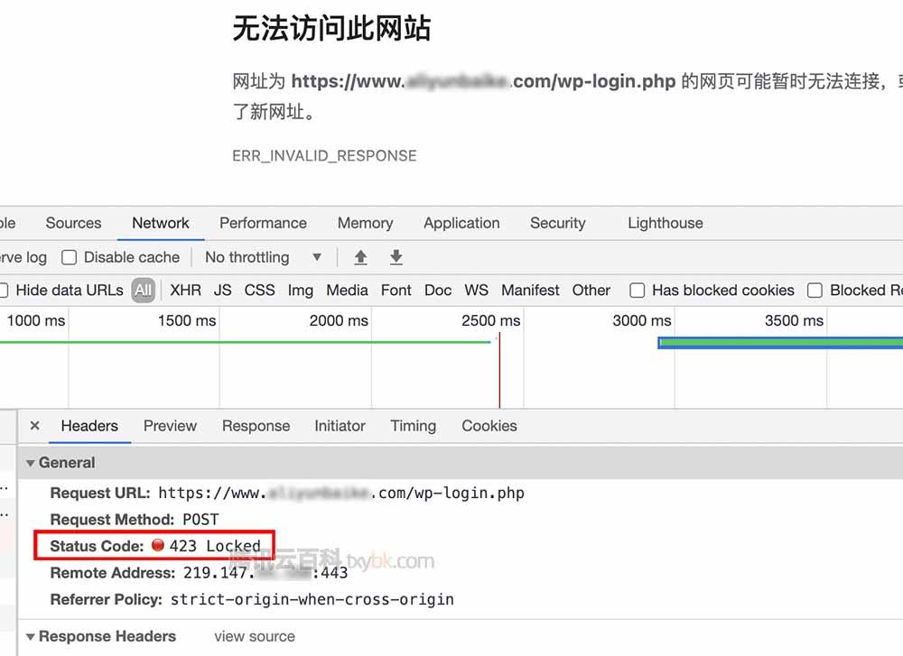 腾讯云CDN网站后台无法访问此网站